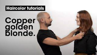 How to do a Copper Golden Blonde? By Pierrick Beringer | L'Oréal Professionnel tutorials