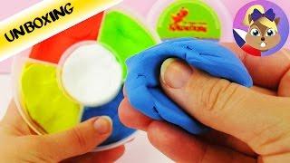 Skákací plastelína v 5ti barvách | Modelína dráčka Kokosáčka | Silk Clay /  Play-Doh Plus