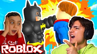 İLK DEFA ROBLOX OYNADIM !! ENES İLE ROBLOX (SUPERMAN VS BATMAN) !!!
