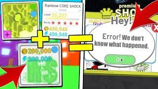 ROBUX HAT + RAINBOW CORE SHOCK BREAKS PET SIMULATOR!? (ROBLOX)