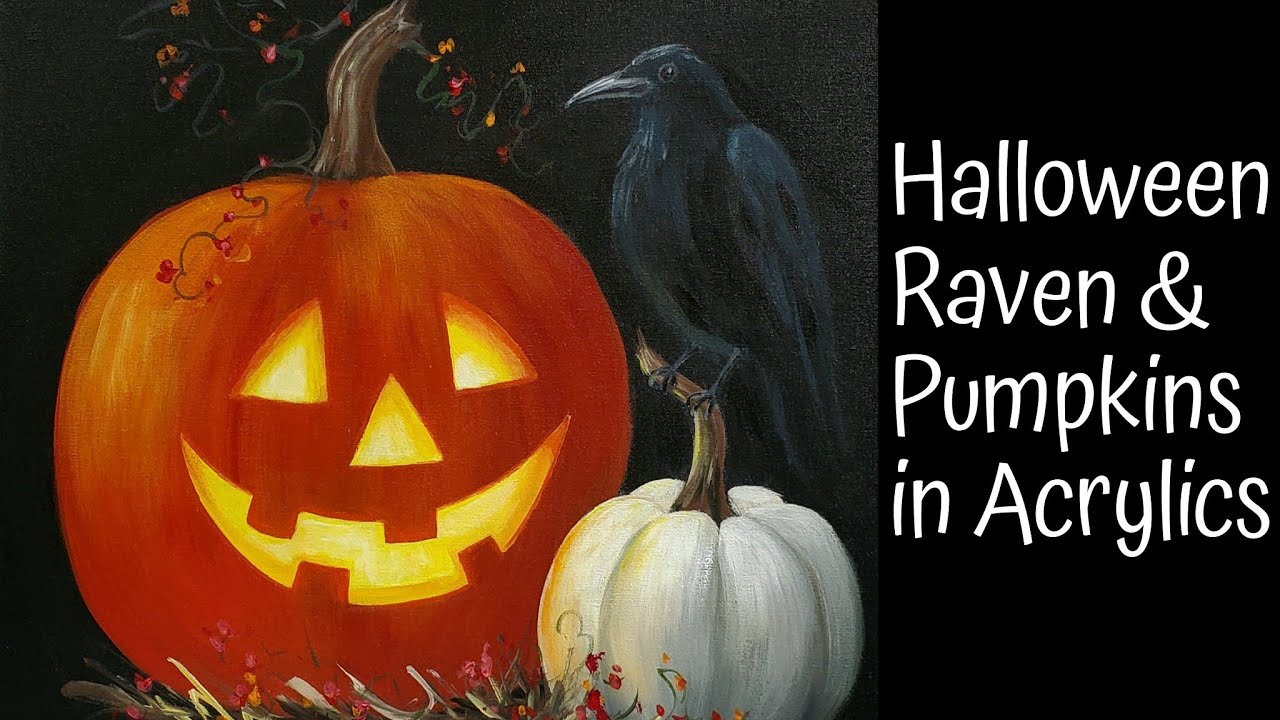 Download Halloween Jack O' Lantern Pumpkin Acrylic Painting LIVE Tutorial