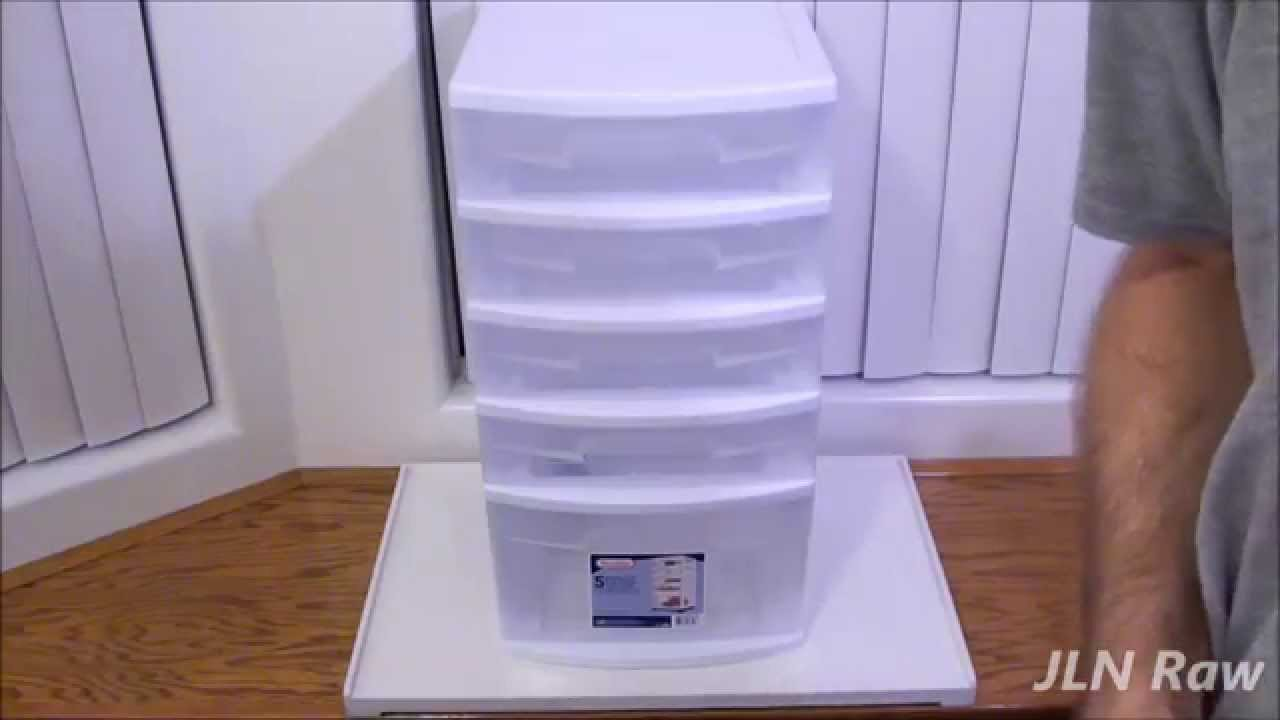 REVIEW   5 Drawer Storage Cart By Sterilite (Damaged)   YouTube