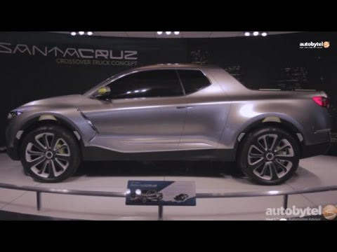 Hyundai Santa Cruz Crossover Truck Concept Overview Detroit Auto Show 2017