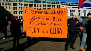 Berlin: Guantanomo Global Action Day #USOutofGuanatamo #ReturnGuantanamotoCubaNow
