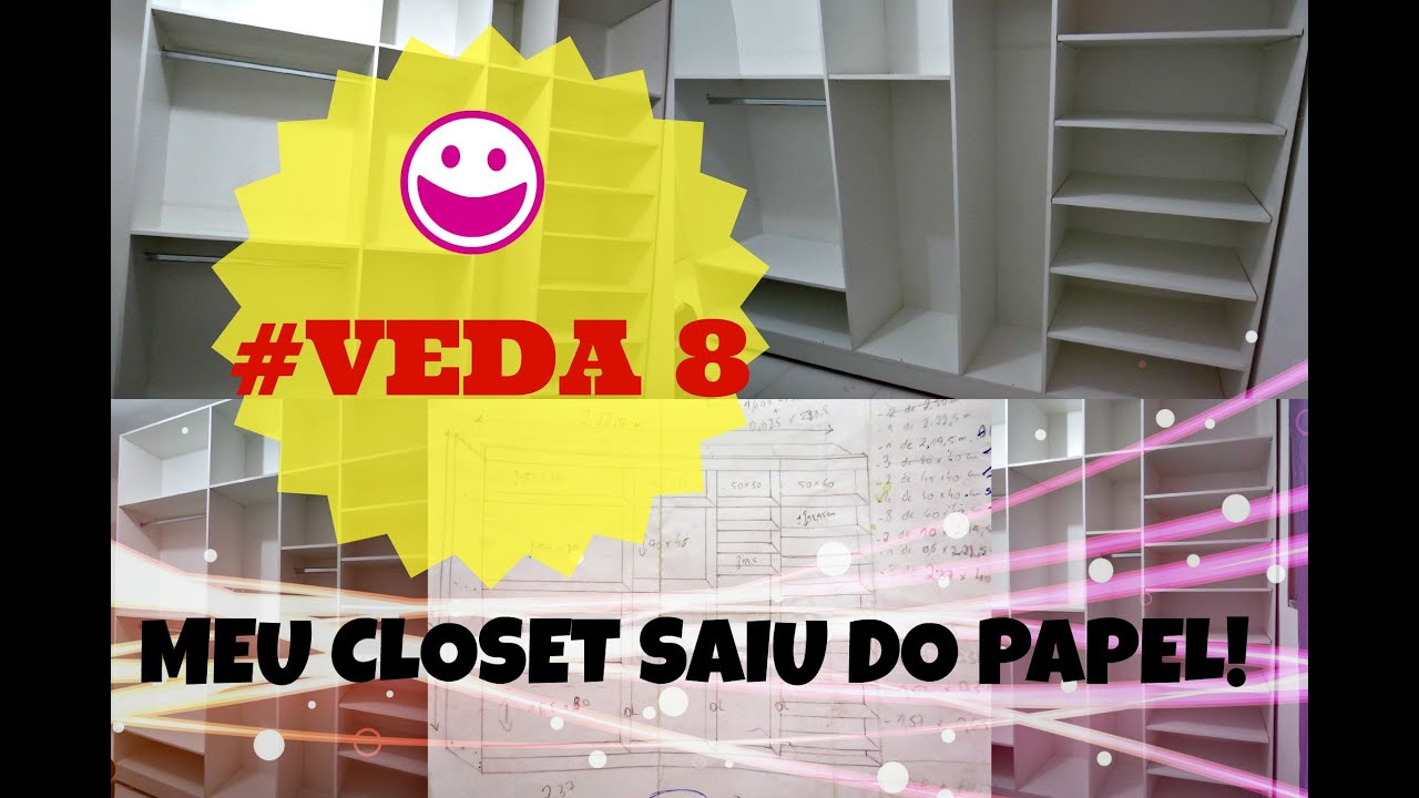 veda 8 diy fa a voc mesmo closet lindo youtube. Black Bedroom Furniture Sets. Home Design Ideas