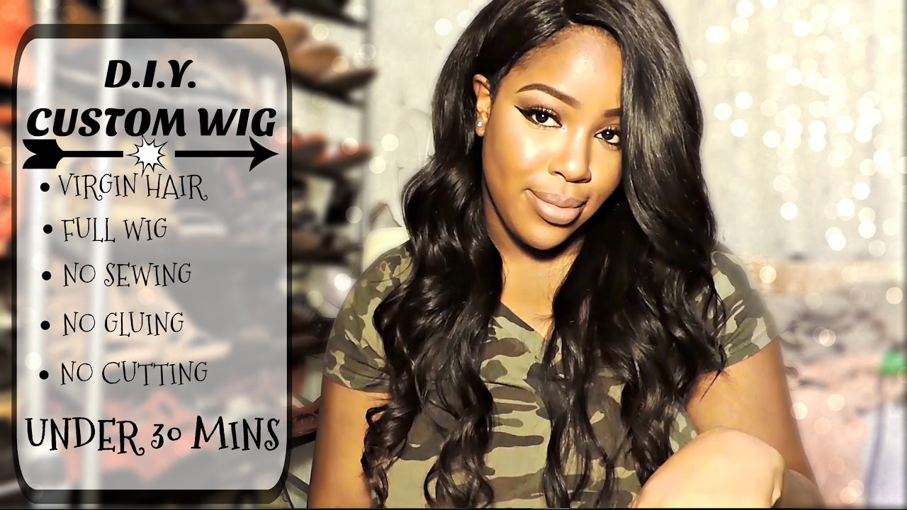 Diy Full Wig Snap Weave Hair Review Styling Talk Through