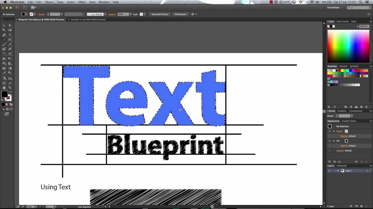 Creating a blueprint effect in illustrator advanced youtube malvernweather Image collections