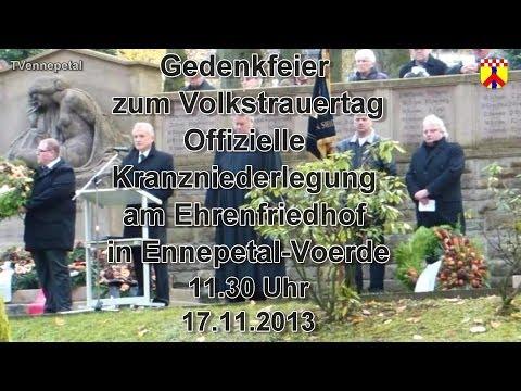 Ennepetal Gedenkfeier zum Volkstrauertag Offizielle Kranzniederlegung am Ehrenfriedhof Voerde