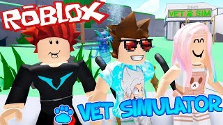 SAVING THE LIVES OF ANIMALS | VET SIMULATOR | ROBLOX