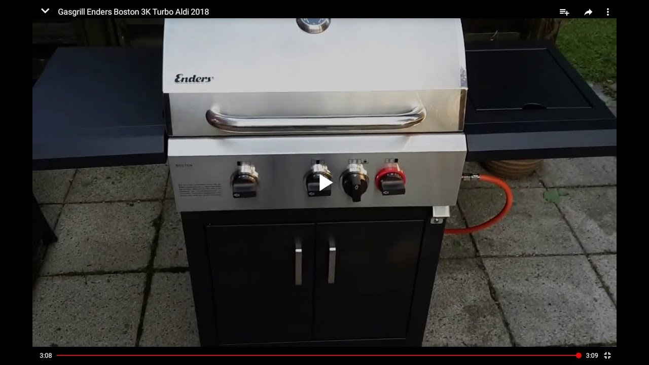 Enders Gasgrill Kansas Black Pro 3 K Turbo : Gasgrill enders boston 3k turbo aldi 2018 teil 1 youtube