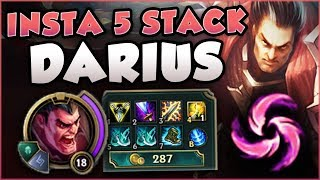 WTF! INSTANTLY HIT 5 STACKS WITH DARIUS NOW?? ATTACK SPEED DARIUS GAMEPLAY! League of Legends