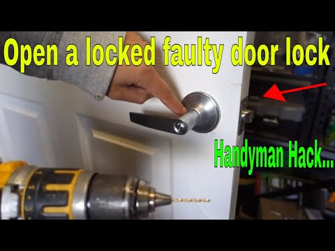 How To Open A Locked Door - Fix Faulty Stuck Lock - Handyman HACK