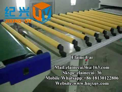 Roller coating line with full detail machines.