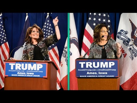 Watch Tina Fey Return as Sarah Palin in a Hilarious Spoof Endorsing Donald Trump