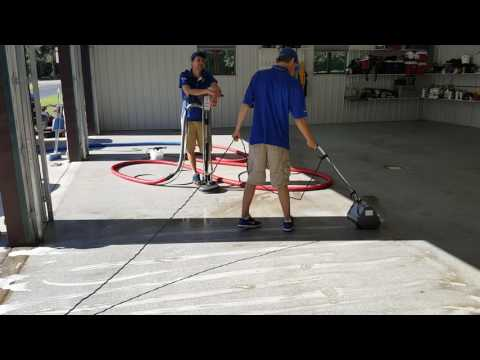 Cleaning epoxy shop floor. Saiger's Sauce 1 with Blue Flame Boost - It pack