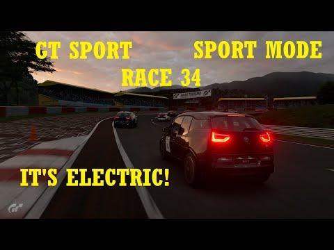 GT Sport - SPORT MODE - Race 34 - It's Electric! - BMW i3 '15 - NO MIC - SORRY :(