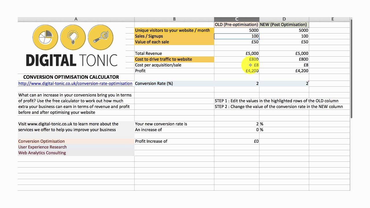 Conversion Rate Optimisation Cro Calculator