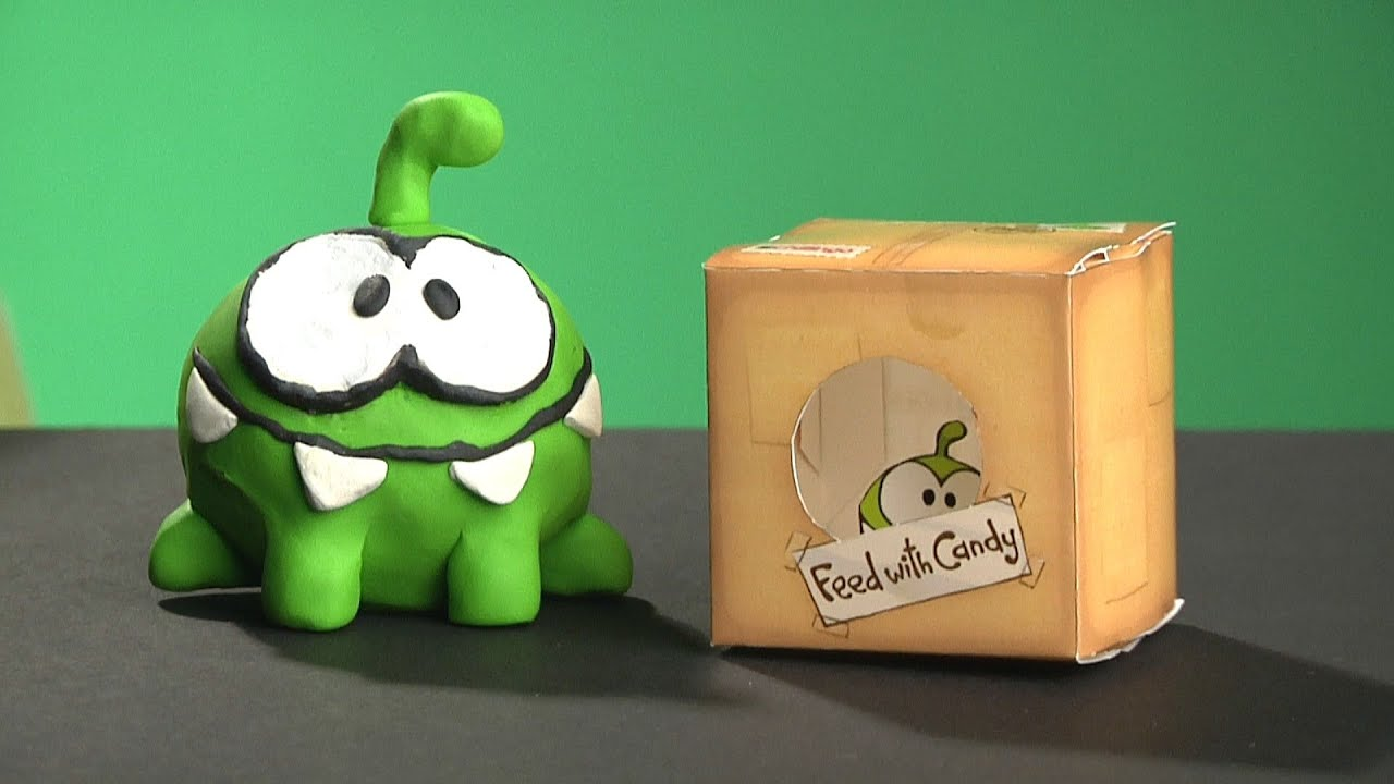 Papercraft Cut the Rope - OM NOM Clay Model and papercraft