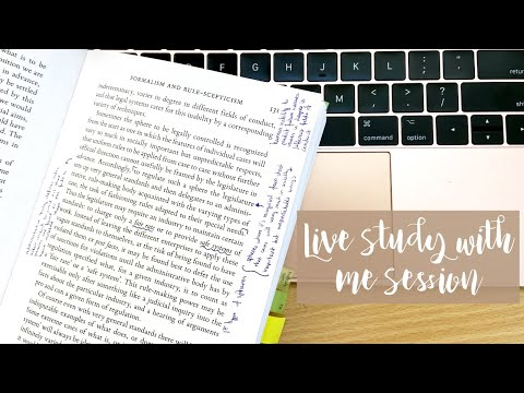 LIVE STUDY WITH ME | 3 HOURS | NO MUSIC