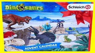 상자속 공룡찾기. 쥬라기월드 슐라이히 달력 공룡 플레이…