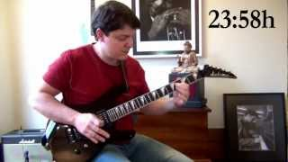 2 Minutes to Midnight Solo -  Iron Maiden Guitar Cover (plus backing track and tabs)