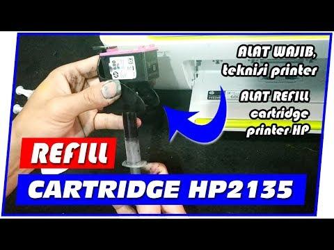 Cara Isi Ulang Refill Tinta HP 2135 (HP DJ Ink Advantage 2135) - Bahasa Indonesia.