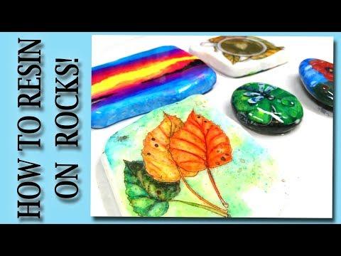 Easy How to Art Resin on Rocks Tutorial
