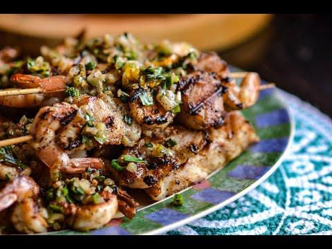 Grilled Fish And Shrimp Platter