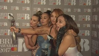 Brit Awards 2017: HILARIOUS Little Mix backstage winners interview!