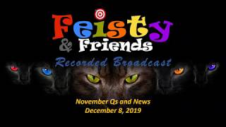 "December 8, 2019  - ""November Q's and News"" - Feisty & Friends"