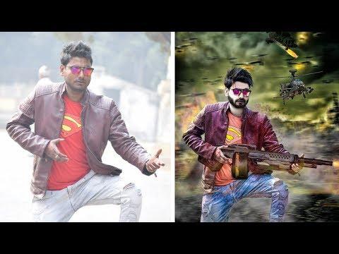 2018 Fb king nandu yadav    Hollywood Style Movie Poster   Easy Photoshop Tutorial    sandeep edits
