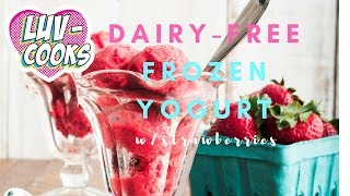 Five Minute Strawberry Frozen Yogurt