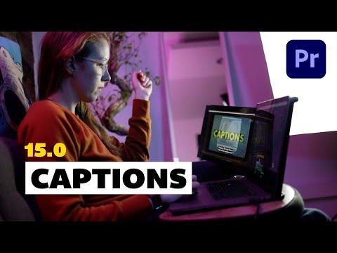 New Captions in Adobe Premiere Pro 2021 - 15.0 Update