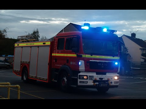 Avon Fire and Rescue Response x3   MAN Water Rescue Pump and Water Rescue Ladders