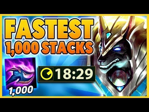 *WORLD RECORD* THE FASTEST 1,000 STACKS POSSIBLE (SECRET) - BunnyFuFuu