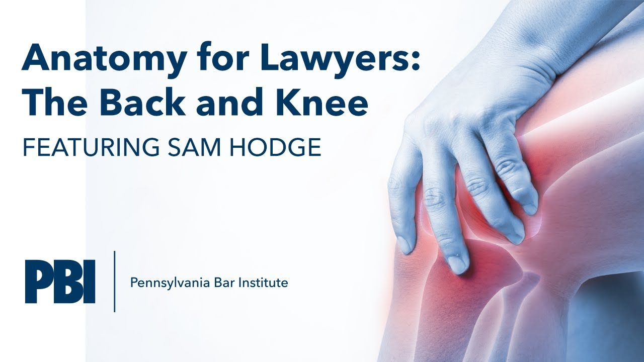 PBI\'s Anatomy for Lawyers: The Back and Knee - YouTube
