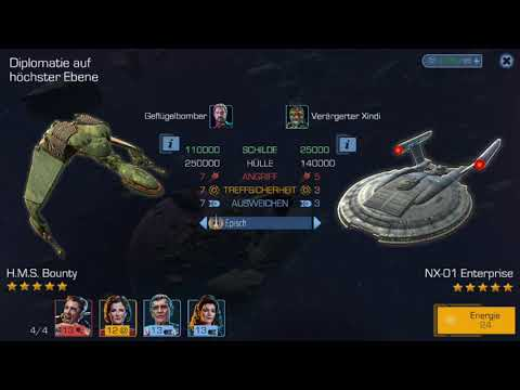 Star Trek Timelines - Klingon Bird of Prey versus Enterprise NX-01