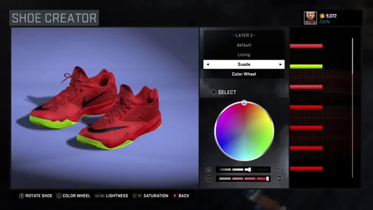 NBA 2K16 Shoe Creator - Nike Run The One PE