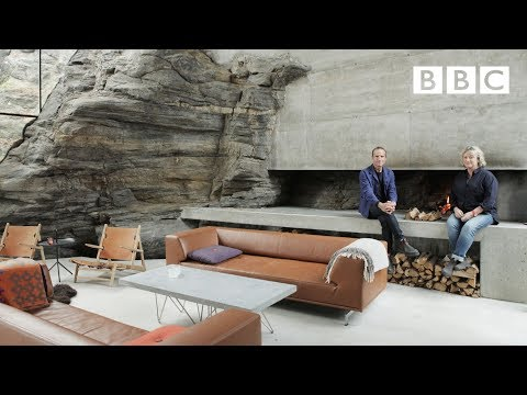 On the edge of a cliff : inside the extraordinary Norwegian summer house - BBC