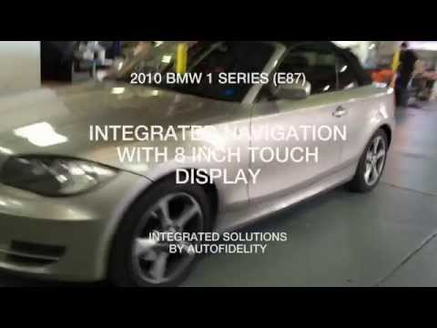 2010 BMW 1 SERIES E87 INTEGRATED NAVIGATION WITH 8 INCH TOUCH DISPLAY