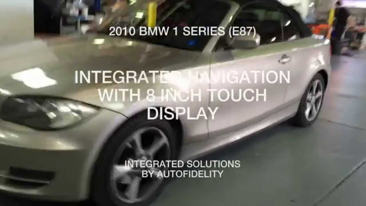 2010 bmw 1 series e87 integrated navigation with 8 inch touch display [ 1280 x 720 Pixel ]