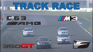 Track Race #37 | 350GT vs IS-F vs C63 AMG vs M3