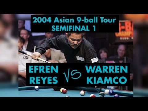 Efren REYES vs Warren KIAMCO - SF 2004 Asian 9-ball Tour