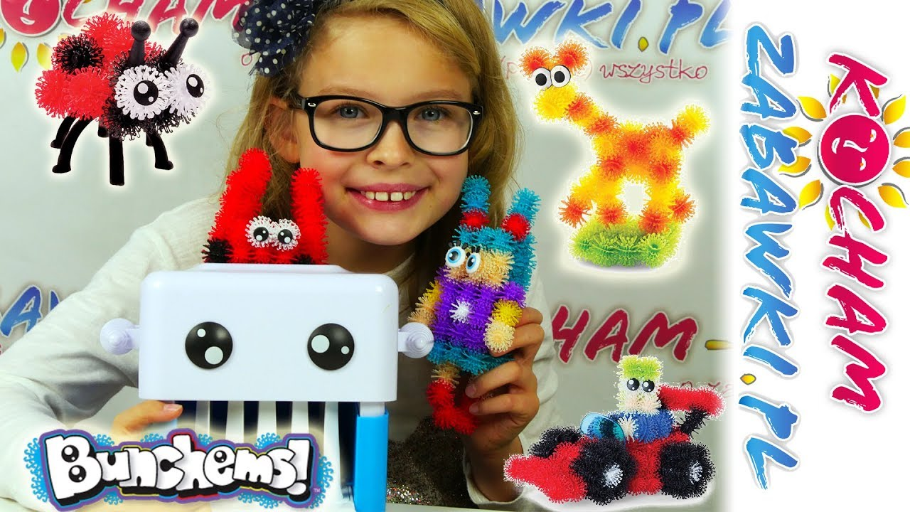 Bunchems • Drukarka Bunchbot do figurek 3D • Zrób to sam • Emilka i Majka • Kreatywne zabawki
