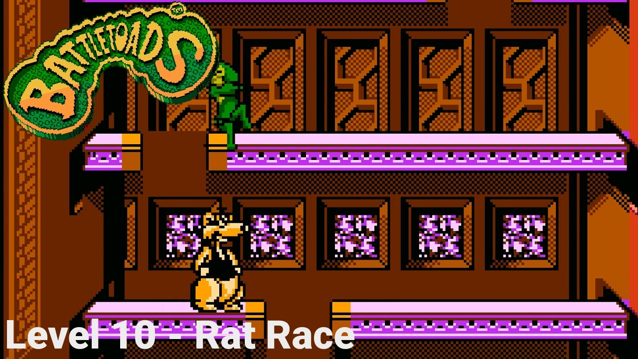 Battletoads Level 10 Rat Race Nes 1440p60 Youtube