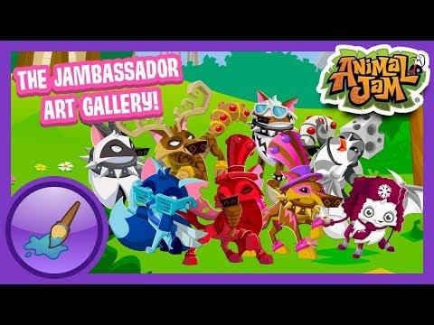Welcome To The Jambassador Art Gallery! | Artist Alley | Animal Jam