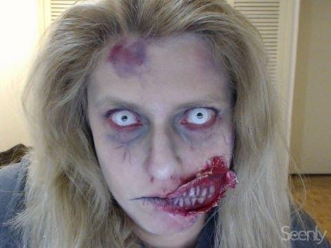 Halloween Make - MAQUIAGEM ZOMBIE CASEIRA