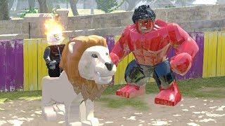 LEGO Marvel Super Heroes #35 MOTOQUEIRO FANTASMA COM HULK VERMELHO E O REI LEÃO Jogo Livre Português