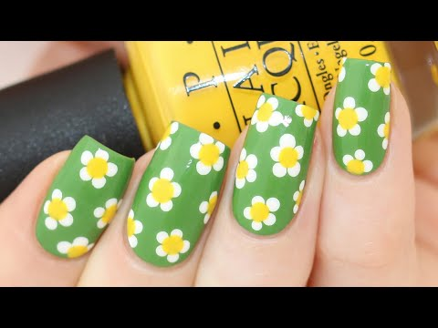 Spring Daisies Easy Nail Art Tutorial thumbnail