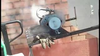 паровой роторный двигатель- испытания